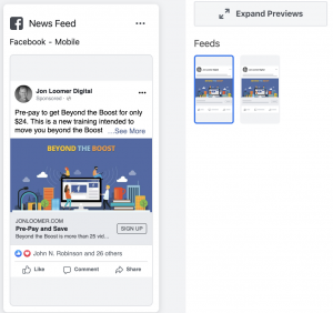 Facebook Ads Preview