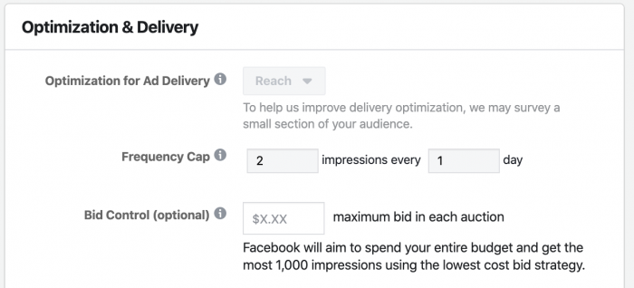 Facebook Ads Reach Optimization