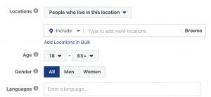 Facebook Ads Targeting Location