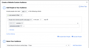 Facebook Ads Website Custom Audience