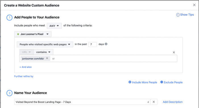 Facebook Ads Website Custom Audience