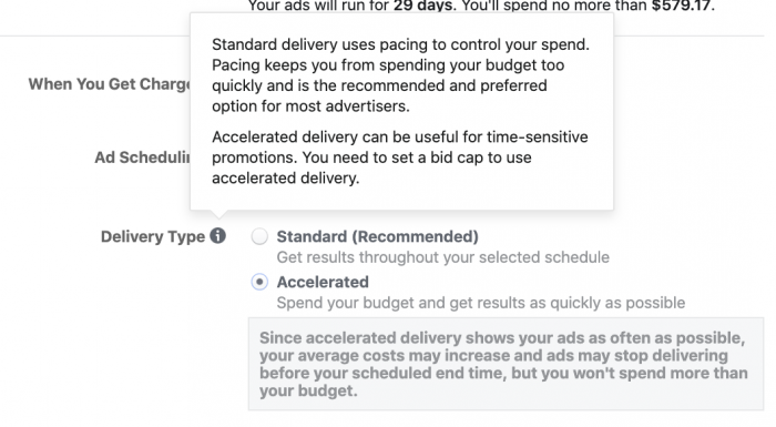 Facebook Ads Accelerated Delivery