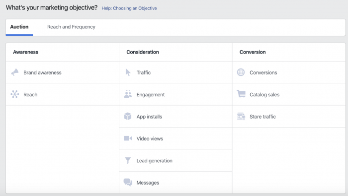 Facebook Campaign Objectives