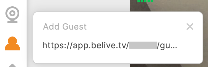 Belive Add Guest