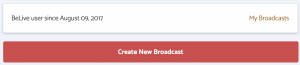 BeLive Create Broadcast