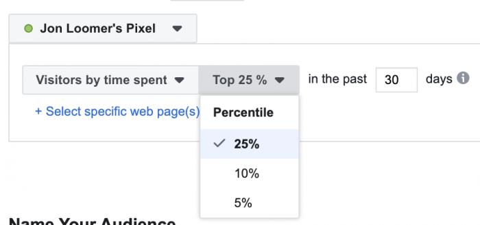 Facebook Pixel Time on Website