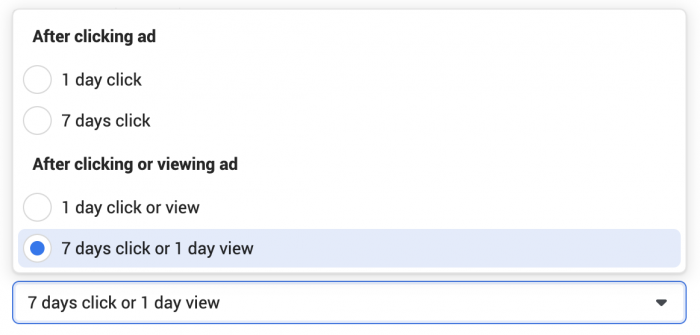 Facebook Ads Conversion Window