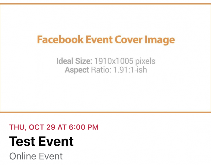 Facebook Event Cover Image Dimensions