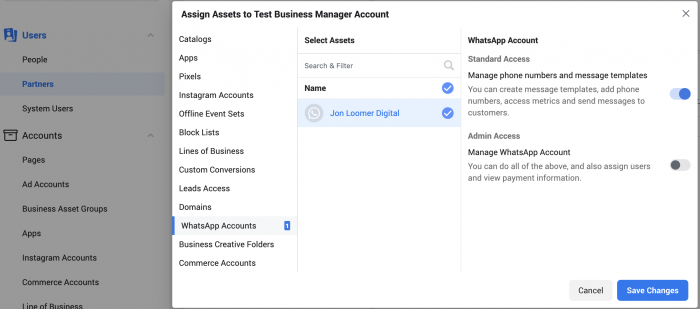 Facebook Business Manager WhatsApp