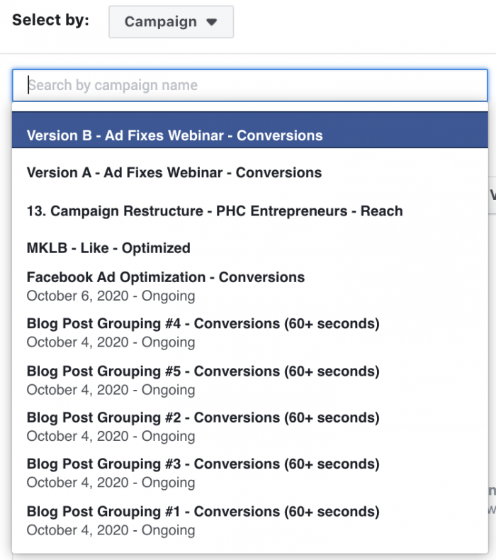 Facebook Video Engagement Custom Audience