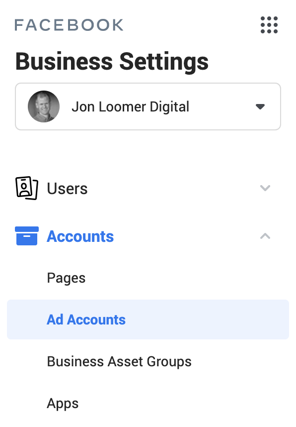 Facebook Business Manager Ad Accounts