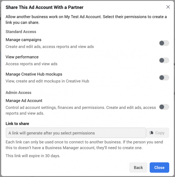 Facebook Business Manager Ad Account
