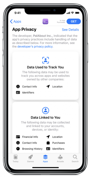 ios14 App Privacy