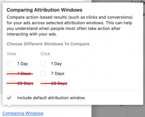 Facebook Ads Attribution Window iOS14