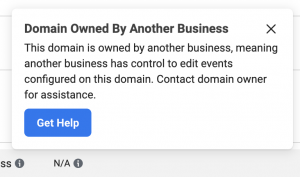 Domain Owned By Another Business