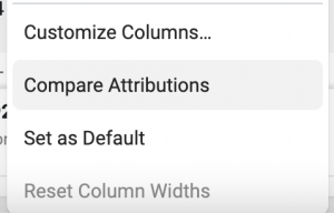 Facebook Ads Compare Attributions