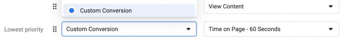 Web Event Configuration