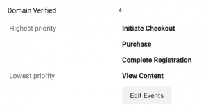 Web Event Configurations
