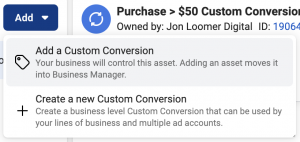 Add Custom Conversion to Business Manager