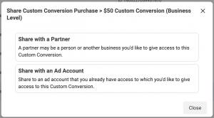 Share Custom Conversion