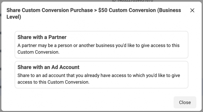 Share Custom Conversion