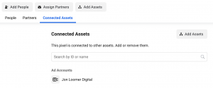 Facebook Pixel Connected Assets