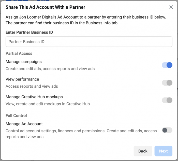 Business Manager Add Ad Account