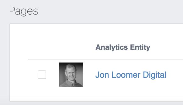 Facebook Analytics Page