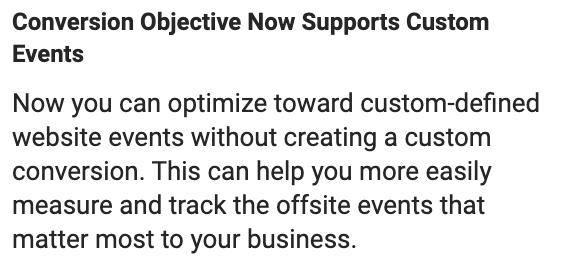 Facebook Custom Events