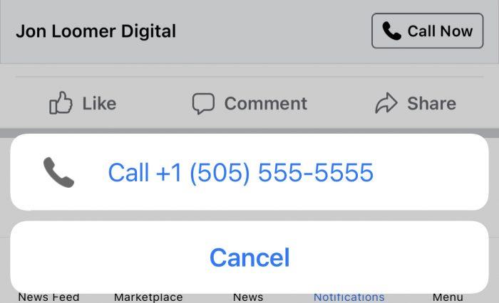 Facebook Call Ad