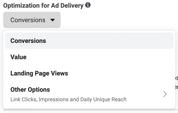 Facebook Conversions Optimization