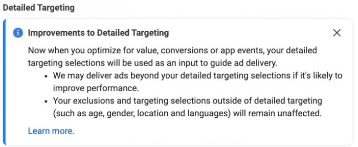 Facebook Targeting Expansion