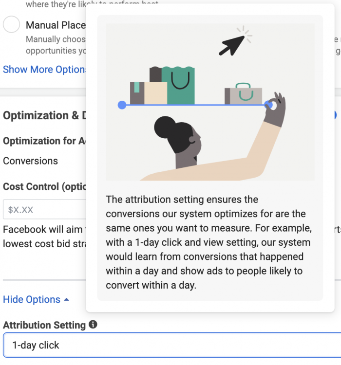 Facebook Attribution Setting