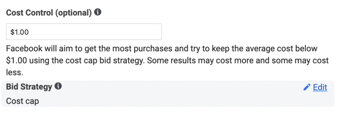 Facebook Cost Control