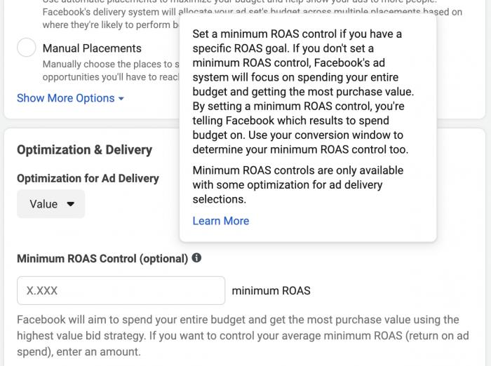 Facebook Minimum ROAS