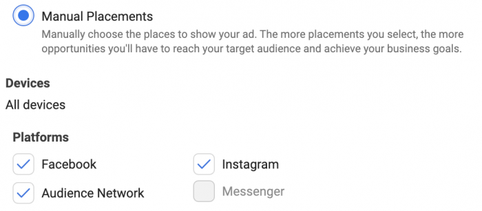 Facebook Placements Audience Network