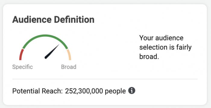 Facebook Potential Reach